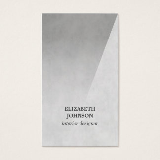Modern Elegant Texture Grey Interior Designer Business Card