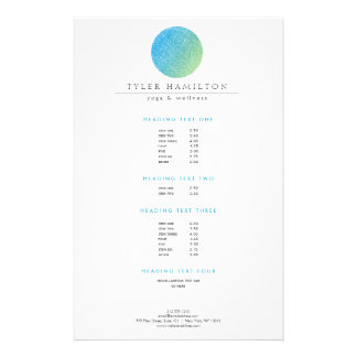 Modern Etched Blue Green Circle Flyer