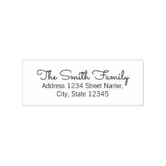 Modern Family Name Return Address Rubber Stamp