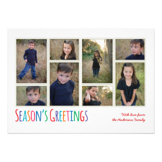 Modern Family Season s Greeting Photo Collage Card