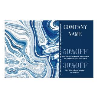 modern fashion beauty SPA aqua blue waves beach 14 Cm X 21.5 Cm Flyer