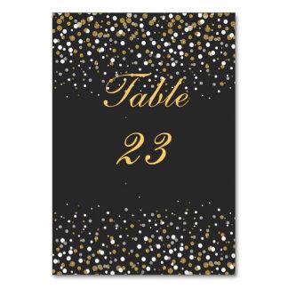 Modern faux gold glitter confetti illustration table cards