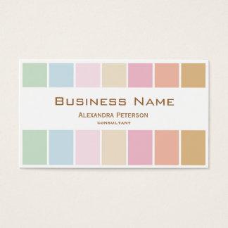 modern fine colour pastel palette business card