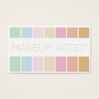 modern fine colour pastel palette makeup artist business card