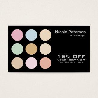 modern fine pastel colors business card