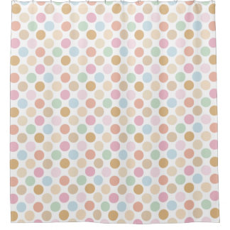 modern fine pastel colors - polka dots shower curtain