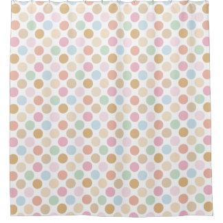 modern fine pastel colors - polka dots shower curtain