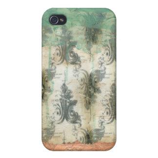 Modern Fleur De Lis Design iPhone 4/4S Cover