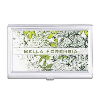 Modern Floral Background 234 Business Card Holder