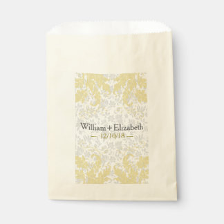 Modern Floral Event Favor Bags | Yellow Favour Bags