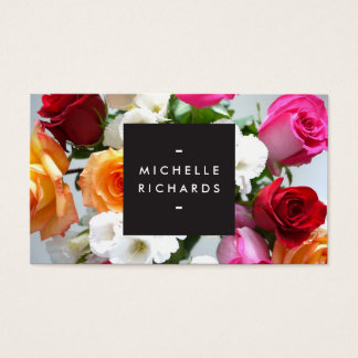 MODERN FLORAL MOTIF for EVENT PLANNERS and more Business Card