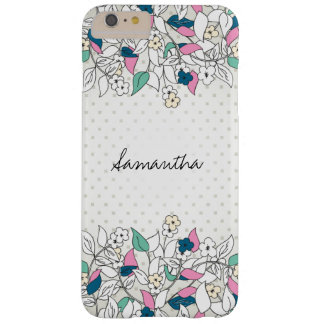 Modern Floral Square Polka Dots iPhone 6 Plus Case