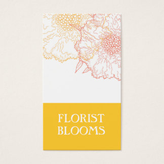 Modern Florist Business Cards Yellow Orange Red