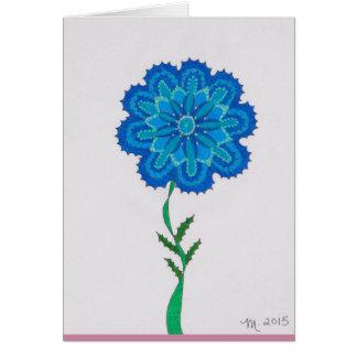 Modern Flower L get well soon Card