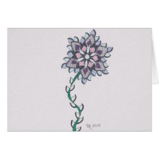 Modern flower M get well Card
