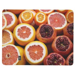 modern fruity diet/habit tracker bullet journal