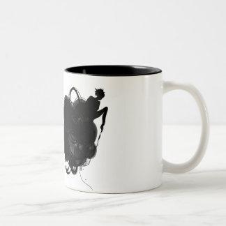 Modern funky coffee mug. Two-Tone coffee mug