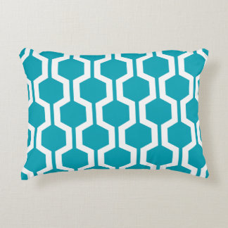 Modern Geometric Accent Pillow - Aqua Blue