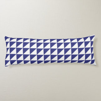 Modern Geometric Body Pillow in Royal Blue