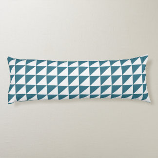Modern Geometric Body Pillow in Teal Blue
