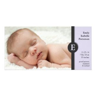 Modern Girl Baby Birth Announcement Photocard Photo Cards