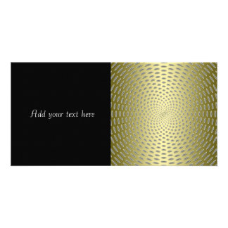 Modern Gold Abstract Design Photo Card Template