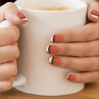 Modern Gold Edge Shocking Orange Minx ® Nail Art