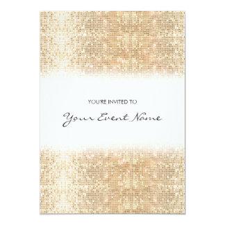 Modern Gold Faux Sequins Festive Party 13 Cm X 18 Cm Invitation Card