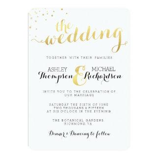 Modern Gold Foil Glamour Wedding Invitation