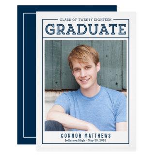 Modern Grad Graduation Announcement Invitation
