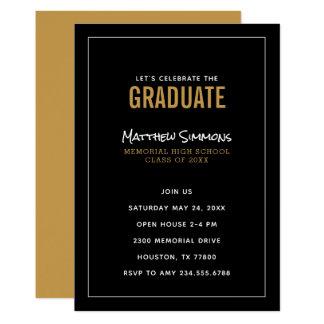 Modern Graduate Graduation Party Invitation
