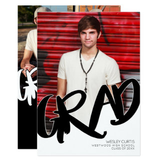 Modern Graffiti Graduation Announcements