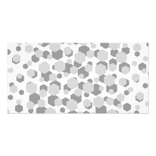 Modern Gray Abstract Pattern. Customized Photo Card