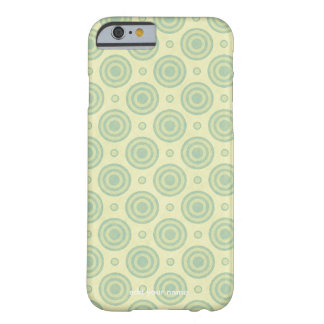 Modern Green Circle Pattern Barely There iPhone 6 Case