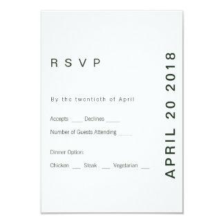 Modern Green Hue RSVP Card
