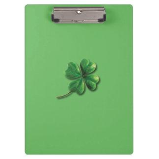 Modern Green Irish Shamrock Clipboard