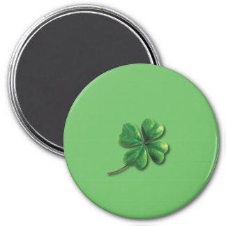 Modern Green Irish Shamrock Magnet