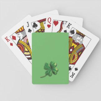 Modern Green Irish Shamrock Playing Cards
