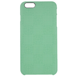 Modern Green -Maze Pattern- Custom Clear iPhone 6 Plus Case