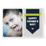Modern Grey Chevron | Photo Father's Day Card