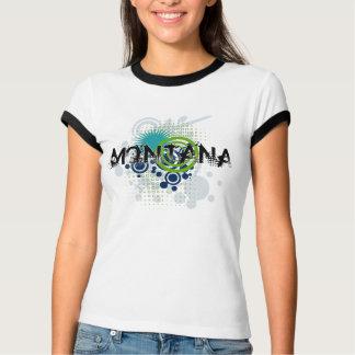 Modern Grunge Halftone Montana T-Shirt Womens