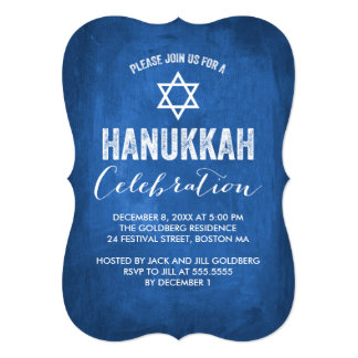 Modern Hanukkah Celebration Invitation