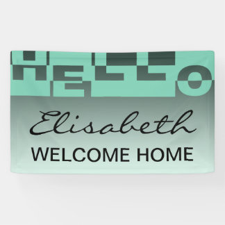 Modern HELLO Banner + your backgr. & ideas