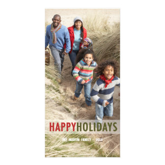 MODERN HOLIDAY PHOTO CARD | RED GREEN