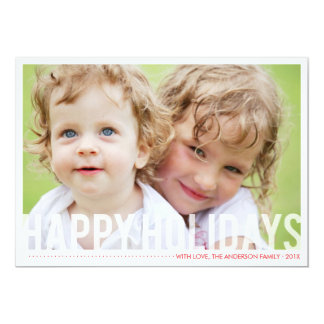 Modern Holiday Photocard - Red Card