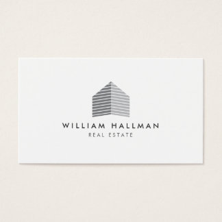 Modern Home Builder Real Estate Business Card