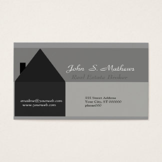 Modern House Black & Gray Business Card
