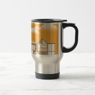 Modern house vector simplistic travel mug