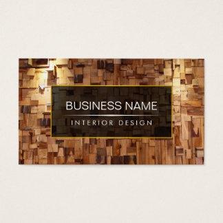 Modern Interior Design Contemporary Wood Business Card