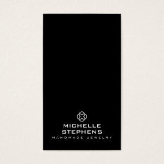 Modern Jewelry Designer Logo Earring Holder Black Business Card